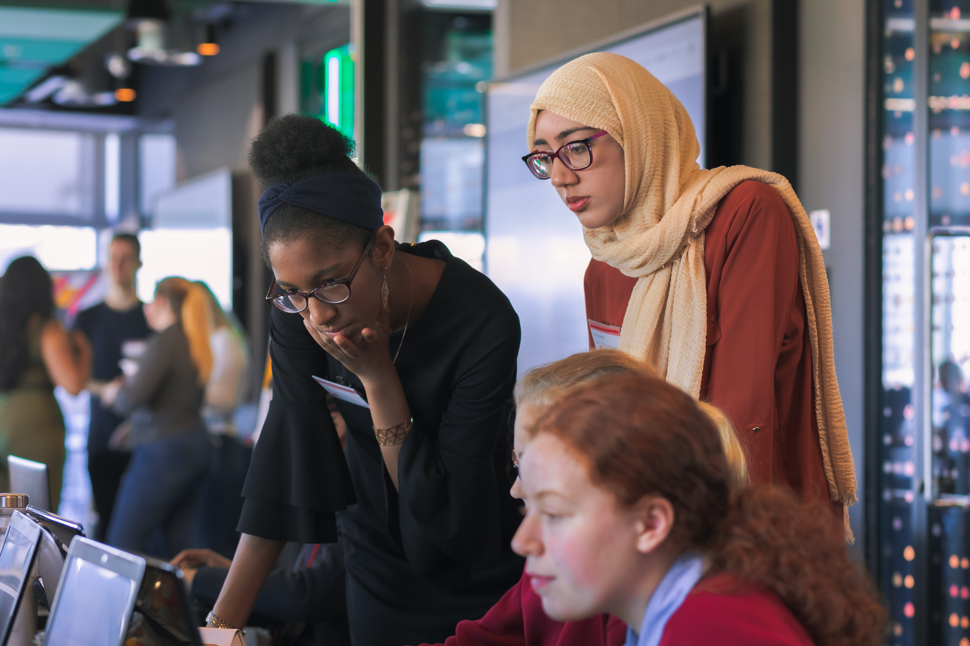 Image of the girls at the Birmingham semi-final for the CyberFirst Girls Competition 2020