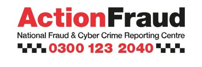Action Fraud logo plus contact details