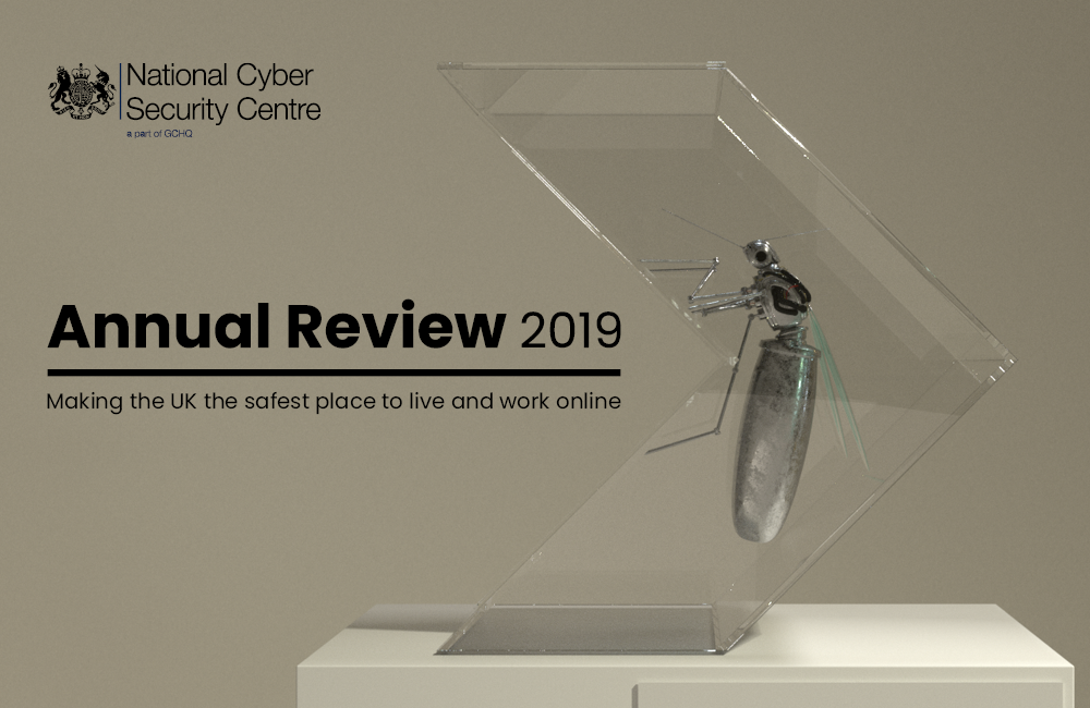 The cover imagery for the NCSC's Annual Review 2019