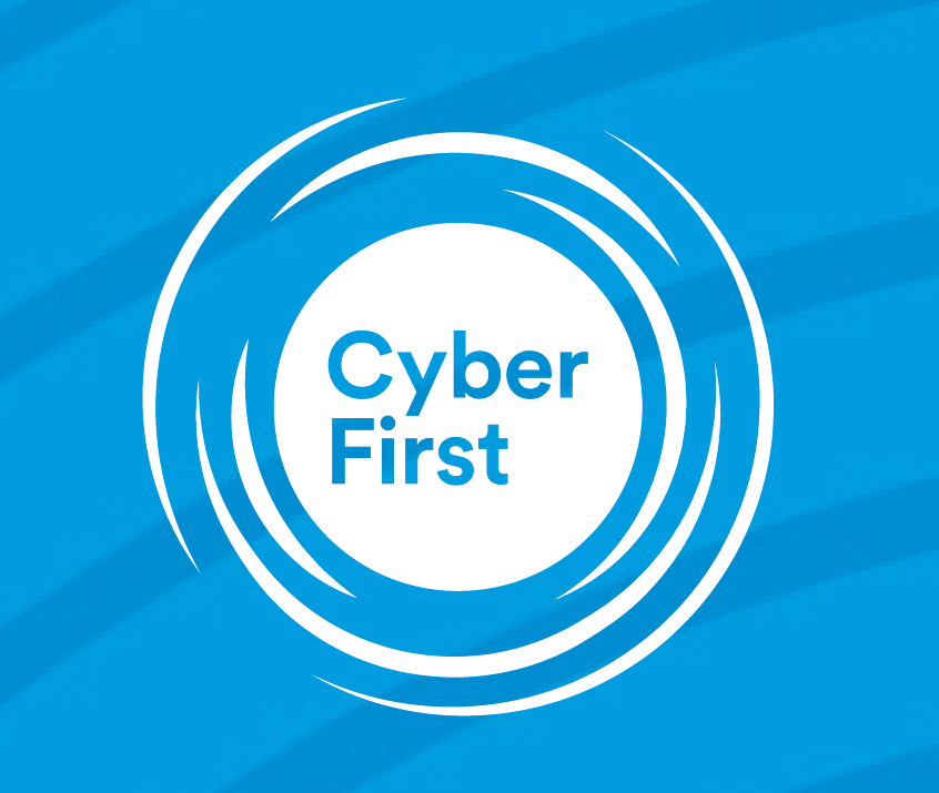 A logo for the NCSC's CyberFirst.
