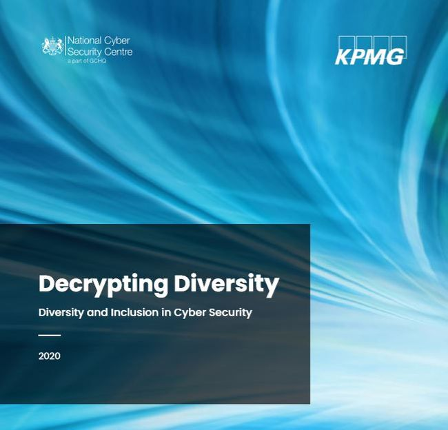 "Close up of ""Decrypting diversity - Diversity and Inclusion in cyber security"" report cover"