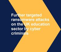 Image of cover of Ransomware alert update for education sector