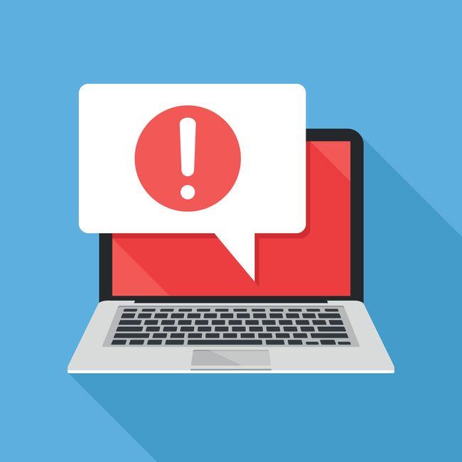 Image of an antivirus alert on a desktop computer